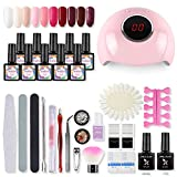 Shelloloh Gellack uv Nagelgel Starterset mit 24W UV+LED Nageltrocknerlampe Soak Off Gel Polish Nagellacken Set Gel Nageldesig maniküre Set