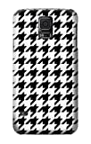 R2301 Black White Houndstooth Monogram Pattern Case Cover For Samsung Galaxy S5