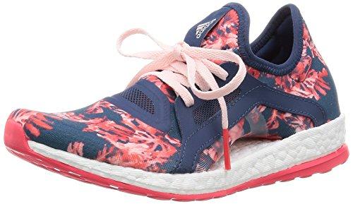 Adidas Pureboost X, Zapatillas de Running para Mujer, Azul / Rojo / Rosa / Blanco (Azumin / Azumin / Rolhal), 36 2/3 EU