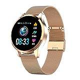 KYLN Smart Bracelet Impermeabile Promemoria chiamate Smartwatch Uomo Donna Cardiofrequenzimetro Fashion Fitness Tracker -glodSTELL