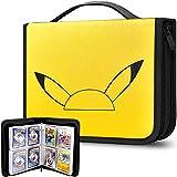 Álbum de 480 hojas de cartas, compatible con tarjetas de coleccionismo de Pokémon, funda organizadora para M.T.G, C.A.H, Yu-Gi-Oh/Baseball y más tarjetas de juego, color amarillo