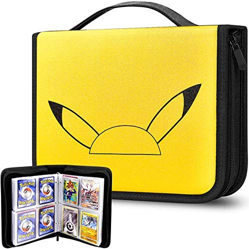 480 Sheet Card Binder Book Album Compatible with Pokemon Trading Cards, Storage Case Organizer Cover for M.T.G/C.A.H/Yu-Gi-Oh/Baseball and More Game Cards Collector