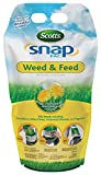 Scotts Snap Pac Weed and Feed - 12.8 lb, Builds Strong, Deep Roots, Kills Dandelions, White Clove, Chickweed, Ragweed and More, Covers up to 4,000 sq. ft.