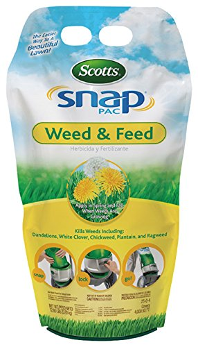 Scotts Snap Pac Weed and Feed - 12.8 lb, Builds Strong, Deep Roots, Kills Dandelions, White...
