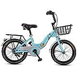 Qinmo De las Mujeres de la Bici Sola Velocidad Patrimonio Muelle 6 Velocidad Damas y niñas Bici de la Ciudad Holandesa Estilo Ligera (Color : Blue)