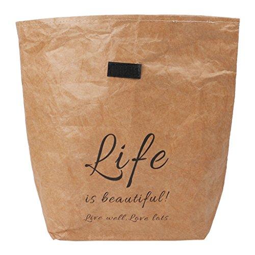 Runrain Kraftpapier Snack Lunchbags Wiederverwendbare Isolierte Thermische Waren Einkaufstüte (L)