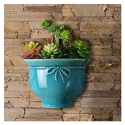 Macetas colgantes y cestas para colgar macetas de cerámica para colgar en la pared, macetas de flores vintage para plantas de interior, no incluidas macetas colgantes para plantas (color: B)