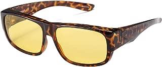 CAXMAN Night Driving Glasses HD Night Vision Fit Over Prescription Glasses Polarized