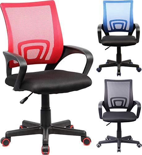 VCM Bürostuhl Drehstuhl Schreibtischstuhl Besucherstuhl Tinos Schwarz/Rot