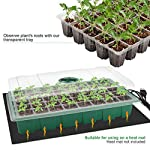 """MIXC Seedling Trays Seed Starter Tray, 5-Pack Mini Propagator Plant Greenhouse Grow Kit with Humidity Vented Domes and… 11 High quality transparent plastic cell trays of this seed grow kit make it easy to observe your plants without interrupting the process. Adjustable vents on the humidity dome of this seed starter kit allow you to regulate the temperature and humidity of your seedling environment, so you have total control over the growing process. Please read the size of each parts carefully. Cells size: 1.5""""x 1.5""""x 2""""(suitable for small seeds); Dome height: 2.75""""; Product size: 14.6""""x 9.84""""x 5.1"""""""