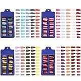 400 Pezzi Unghie Finte Lunghe Ballerina 20 Colori Donna Copertura Completa Unghie Artificiali Tinta Unita per Nail Art Fai da Te Arte Unghie Saloni di Unghie (10 Taglie)