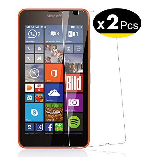 NEW'C PanzerglasFolie Schutzfolie für Nokia Microsoft Lumia 640, [2 Stück] Frei von Kratzern Fingabdrücken und Öl, 9H Härte, HD Displayschutzfolie, 0.33mm Ultra-klar, Displayschutzfolie