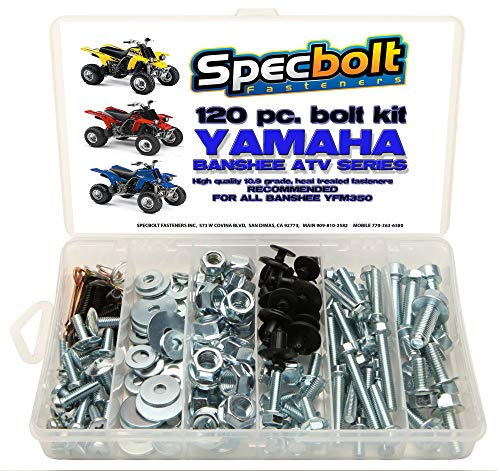 Specbolt Fasteners Brand Bolt Kit: Banshee YFM350 Model Series ATV Bolt Kit (120 pc)