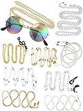 10 Pezzi Donne di Catena di Occhiali Cinturino per Occhiali da Sole Porta Stringhe Attorno al Collo per Coppia Amico di Famiglia