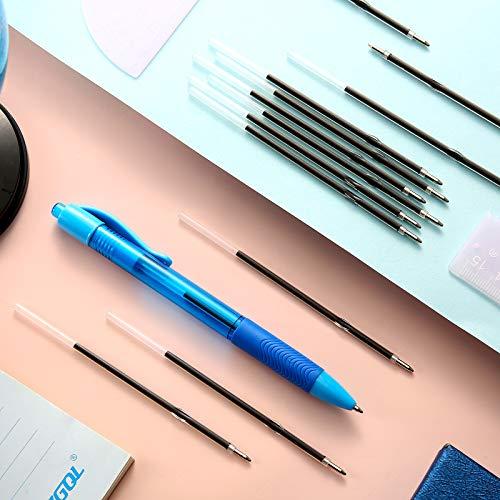 Sepamoon Retractable Pen Refills 0.7mm Ballpoint Pen Refills Replacement Gel Ink Refills Blue and Black Ink Refills for Retractable Pens, Office School Supplies (120) Photo #6