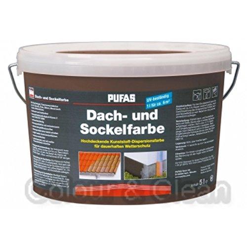 Pufas Dach- und Sockelfarbe 5 L Farbe: Havanna 953 Dachfarbe Sockel-Anstrich