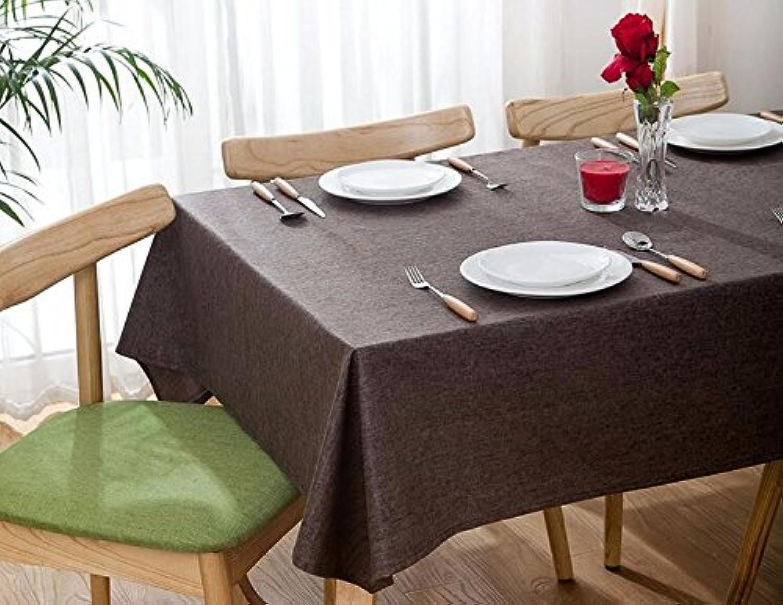 WFLJL Tischdecke Wasserdicht Flachs Farbe Haushalt Hotel Tuch Couchtisch Esstisch Braun 130 X 180cm B077KYCDLQ Angemessener Preis  | Outlet Online Store