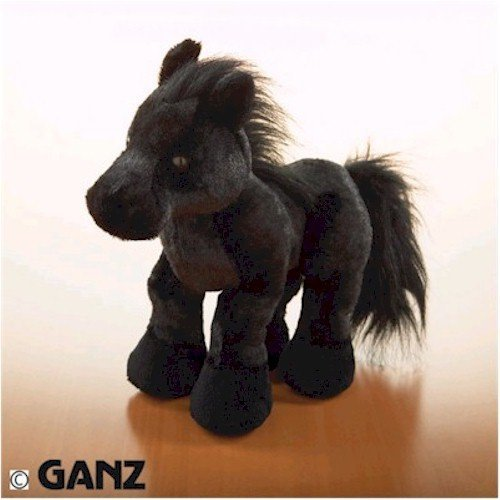 Webkinz Black Stallion with Trading Cards