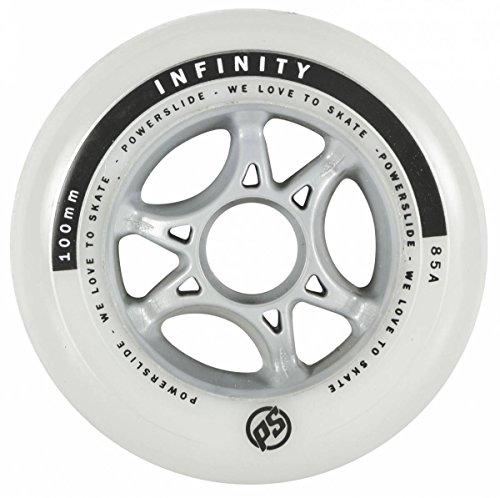 Powerslide 100mm 85a Infinity II Speedrolle klar-grau weiß, 100 mm