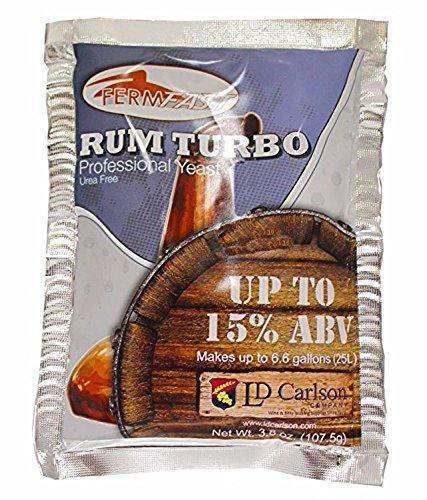 Home Brew Ohio Fermfast Rum Turbo Yeast 107.5 G Packet