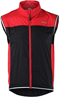 Honeytecs Men's Ultrathin Lightweight Sleeveless Coat Jacket Running Cycling Bicycle Vest Windproof