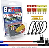 BioFuse 12V Micro2 APT ATR QUICK TAP KIT: 2 Add-A-Circuit Car Fuse Tap Adapters, 2 each (10A 20A) Micro 2 Blade Fuses, 4 Zip Ties + Fuse Puller