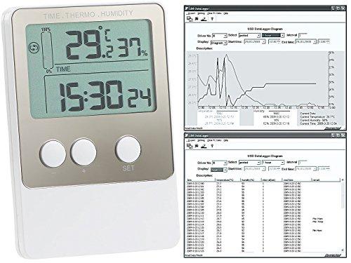 FreeTec Temperaturlogger: USB-Temperatur- & Luftfeuchtigkeits-Datenlogger V2 mit PC-Software (Thermometer mit Aufzeichnung)