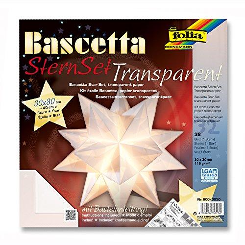 NEU Bascetta-Stern Bastelset. 30 x 30 cm. 32 Bl.