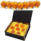 7 Piezas Bolas Dragon Ball, Bolas de Dragón 1 a 7 Estrellas con Caja de Regalo, Regalo de Año Nuevo para Coleccionar o Regalar para Niños,Coleccionables para Dragonball Z Regalo - Diámetro 4,3CM