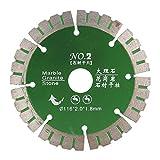Disco de Corte de Hoja de Sierra de Diamante Hoja de Sierra de Borde Turbo Piedra de Corte Turbo Rizado NO.2 Verde Para Corte Rápido