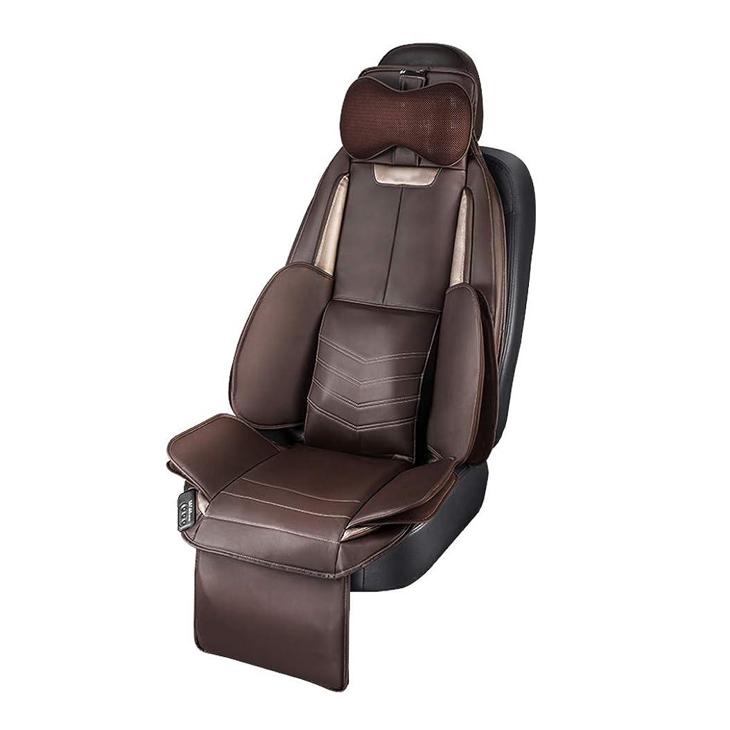 スナックマージン正気多機能車の座席クッションマッサージクッション、運転の疲れを和らげる、マッサージチェアパッド腰掛けホームオフィス用座席用(ブラック)