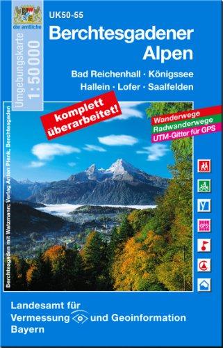 UK 50-55 Berchtesgadener Alpen 1 : 50 000 (UK50 Umgebungskarte 1:50000 Bayern Topographische Karte Freizeitkarte Wanderkarte)
