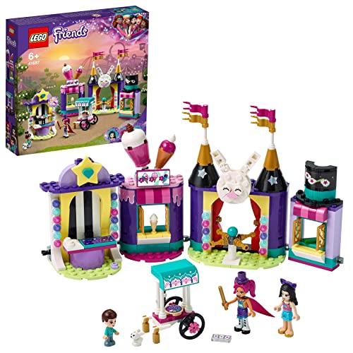 LEGO 41687 Friends Magische Jahrmarktbuden, Freizeitpark mit Zaubertricks für Kinder, Spielzeug ab 6 Jahren