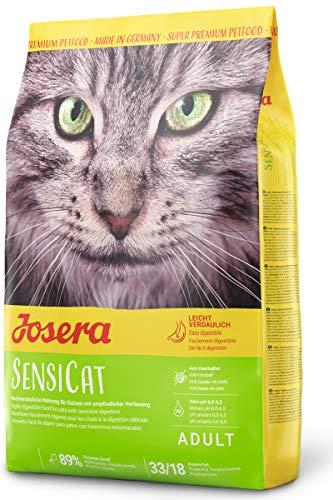 JOSERA SensiCat (1 x 2 kg) | Katzenfutter mit extra verträglicher Rezeptur | Super Premium Trockenfutter für ausgewachsene und empfindliche Katzen | 1er Pack