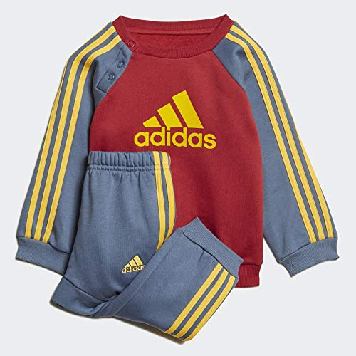 adidas Unisex-Baby I Logo Jog FL Trainingsanzug, Maract/Tintec/Oroact, 62