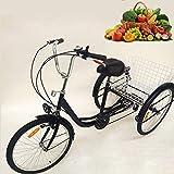 SENDERPICK 24 pulgadas 6 velocidades adulto 3 ruedas triciclo, adulto bicicleta Pedal de ciclismo...