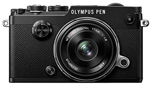 Olympus PEN-F Fotocamera con Obiettivo EW-M1718, Nero