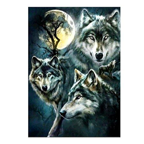 ECMQS Wolf DIY 5D Diamant Painting Full Set, Crystal Strass Stickerei Painting Diamond Dekoration Für Home Wall Décor