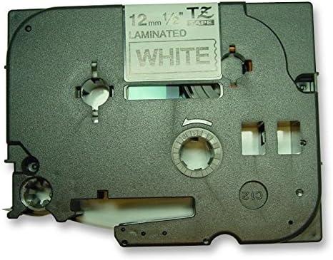 Fita Rotulador Brother Compatível Tz Tz2 TzE Tze-231 Branca 12mm