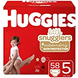 Huggies Little Snugglers Baby Diapers, Size 5, 58 Ct