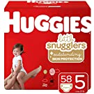 Huggies Little Snugglers Baby Diapers, White, Size 5, 58 Count