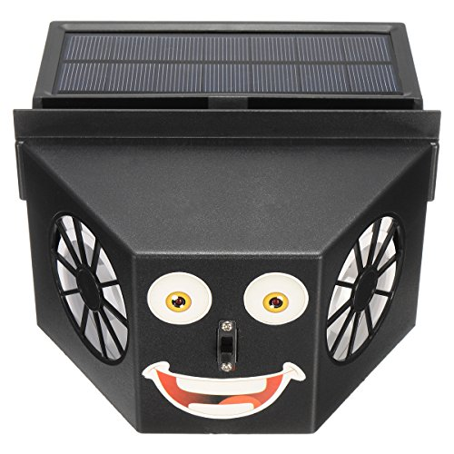 JenNiFer Dual Blades Air Vent Ventilator Radiator op zonne-energie