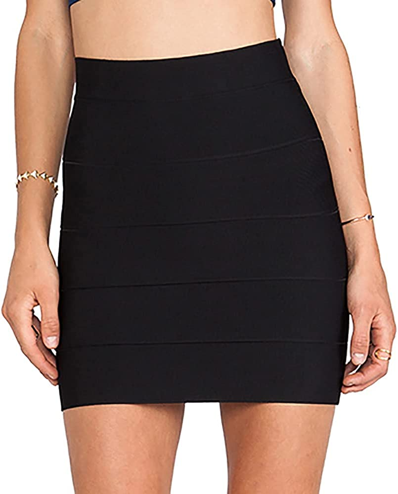 Discount mail order HLBandage Solid High Waist Bandage Pencil Mini Skirt High quality new