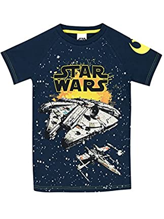 STAR WARS - Camiseta para niño Halcón Milenario - 5-6 Años