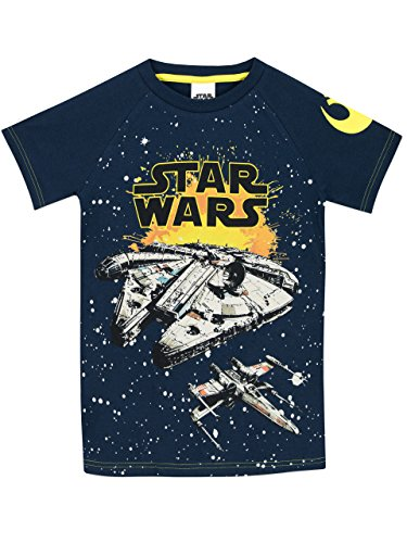 STAR WARS - Camiseta para niño Halcón Milenario - 9-10 Años