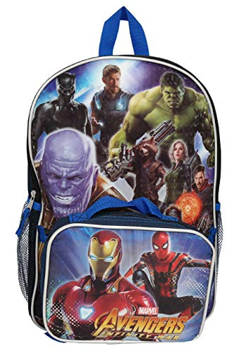 MARVEL Avengers 16 Inches Large Backpack With Lunch Bag
