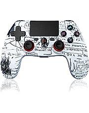 Maegoo Wireless Controller Compatibile per PS4, Bluetooth wireless Game PS4 Controller Gamepad Joypad Joystick con Doppia Vibrazione e 6-Axis Gyro Sensor, Touch Panel e Funzione Audio-Graffiti