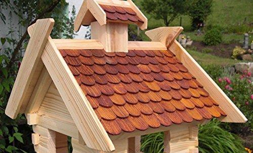 Vogelhaus Vogelhäuser-(V05)-Vogelfutterhaus Vogelhäuschen-aus Holz-DHL-XXXL Braun - 3