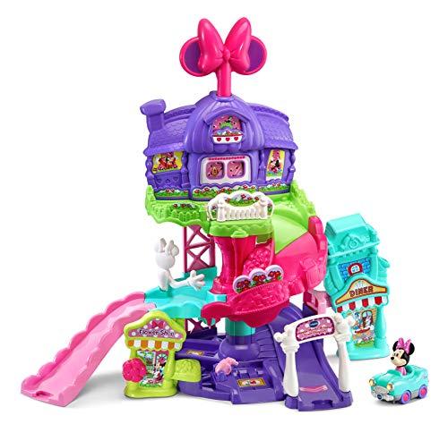 VTech ciudad mágica Mouse, TutTut Bólidos Disney, divertido playset interactivo, incluye un coche de Minnie con la voz original, multitud de elementos para manipular (3480-521822)