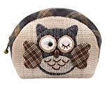 Owl Coin Purse Easy Sewing Project Sewing Kit for Girls Beginners (Blue) (Home)